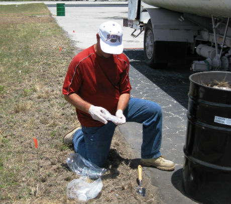 A professional performing environmental consulting services in Boca Raton, FL